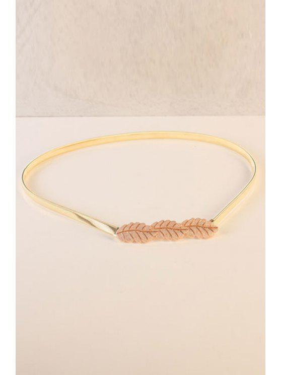 sale Leaf Shape Elastic Waistband - GOLDEN