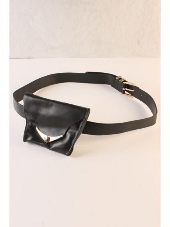 lady Waist Bag Black Belt - BLACK