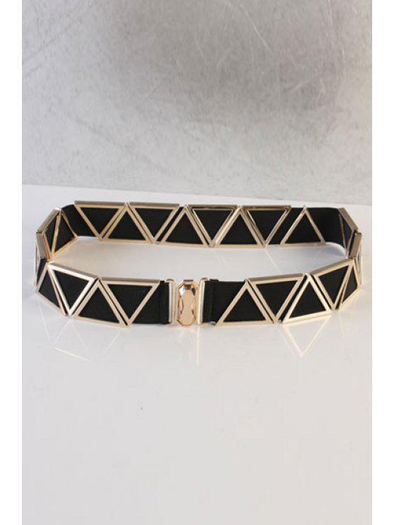 online Triangle Embellished Elastic Waistband - BLACK
