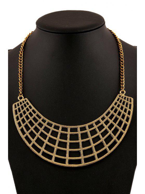 shops Openwork Geometric Necklace - GOLDEN