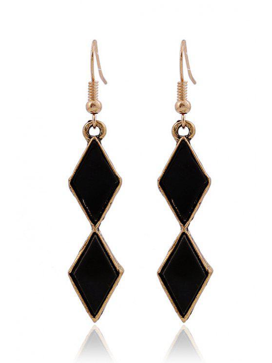 women's Resin Pendant Earrings - GOLDEN