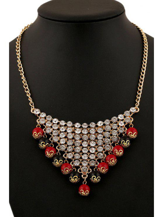 trendy Beads Triangle Necklace - COLORFUL