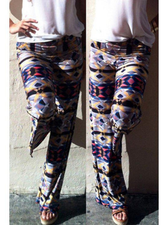 ladies Argyle Print  Wide Leg Exumas Pants - COLORMIX M