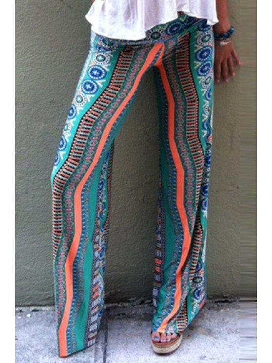 outfit Ethnic Pattern Striped Wide Leg Exumas Pants - COLORMIX S