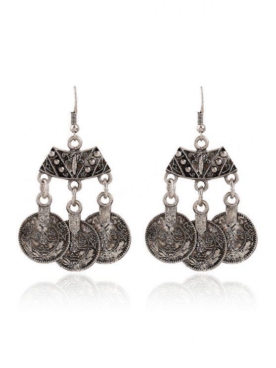 best Coin Pendant Earrings - SILVER