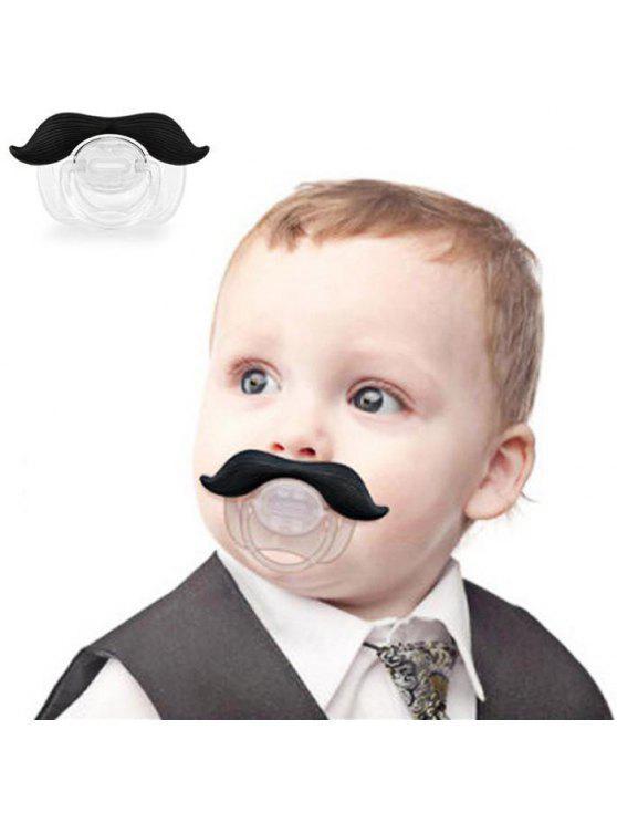 مصاصة الإبداعية للطفل الرضيع مع نمط اللحية السوداء - كما في الصورة