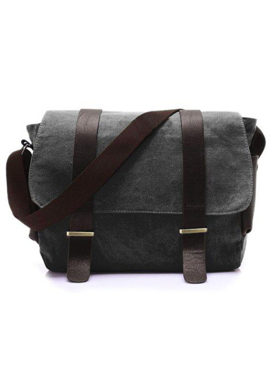 40% OFF  2019 Stylish Style Splice And Canvas Design Men s Messenger ... ecb15693f6280
