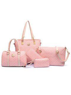Elegant Arrow Print And PU Leather Design Women's Shoulder Bag - Pink
