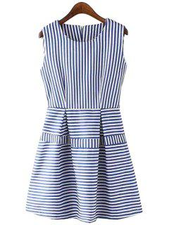 Stripes Spliced A Line Sundress - Stripe S