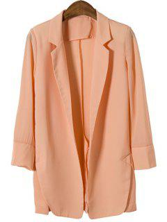 Candy-Colored All-Match Chiffon Blazer - Pink M