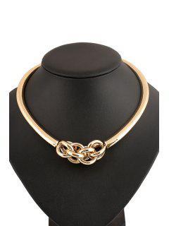 Collar Círculo Empalme - Dorado