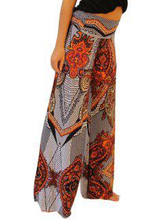 Paisley Print Wide Leg Colored Exumas Pants - Jacinth Xl