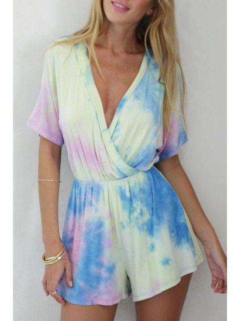 buy Colorful Print Short Sleeve Romper - COLORMIX M Mobile