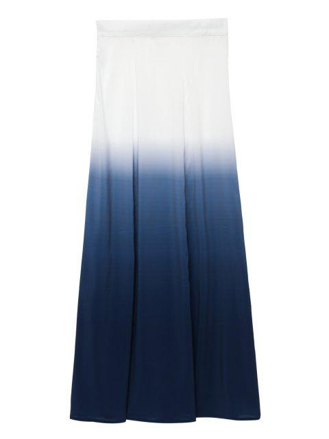 women Ombre Long Skirt - WHITE S Mobile