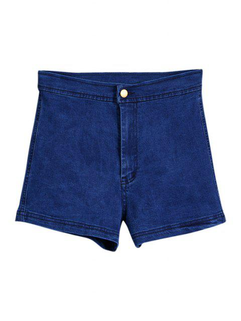 new High Waisted Denim Shorts - LIGHT BLUE S Mobile