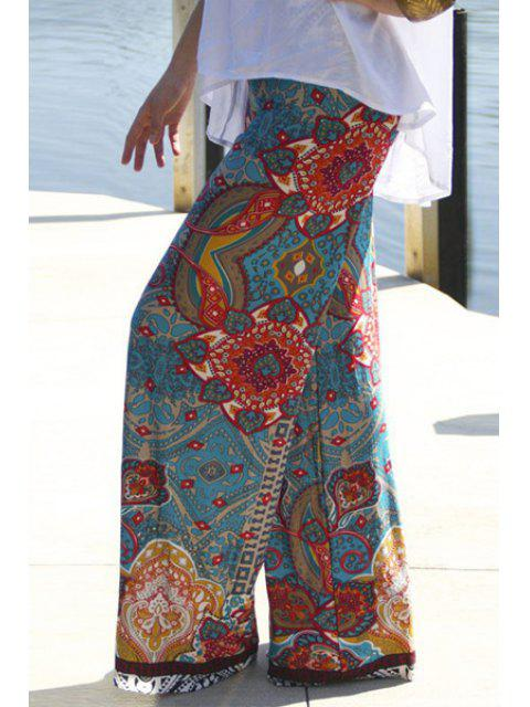 sale Wide Leg Printed Pants - COLORMIX S Mobile