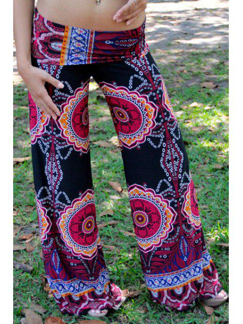 new Vintage Print Elastic Waisted Exumas Pants - COLORMIX S Mobile