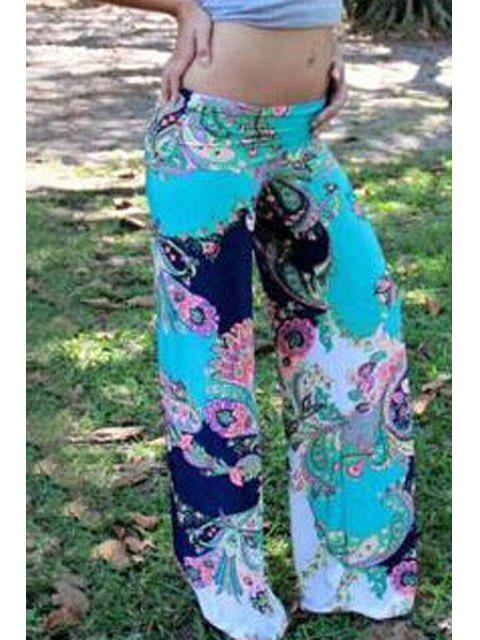 trendy Mid-Waisted Wide Leg Printed Pants - COLORMIX M Mobile