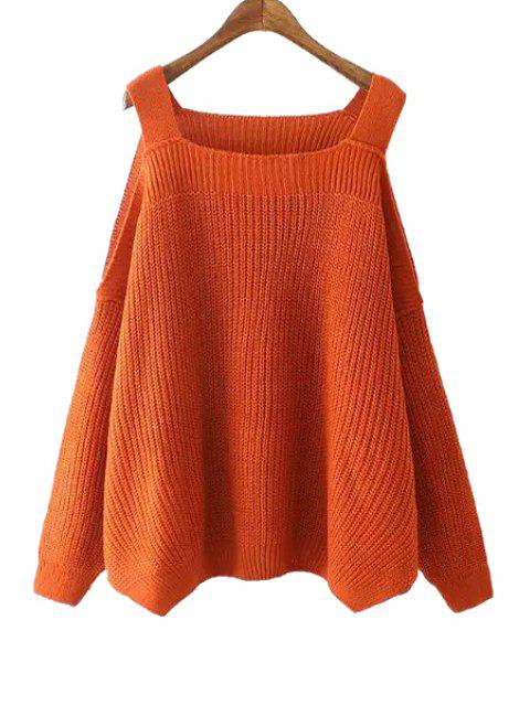 outfit Solid Color Kintted Side Slit Loose Sweater - JACINTH ONE SIZE(FIT SIZE XS TO M) Mobile