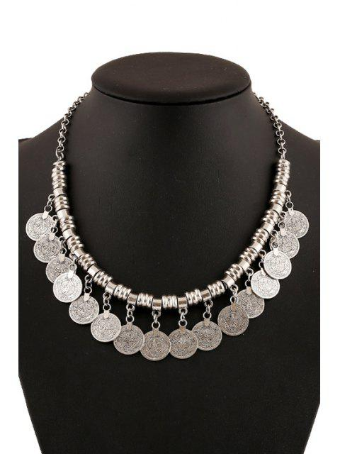 online Chic Coin Pendant Necklace For Women - SILVER  Mobile
