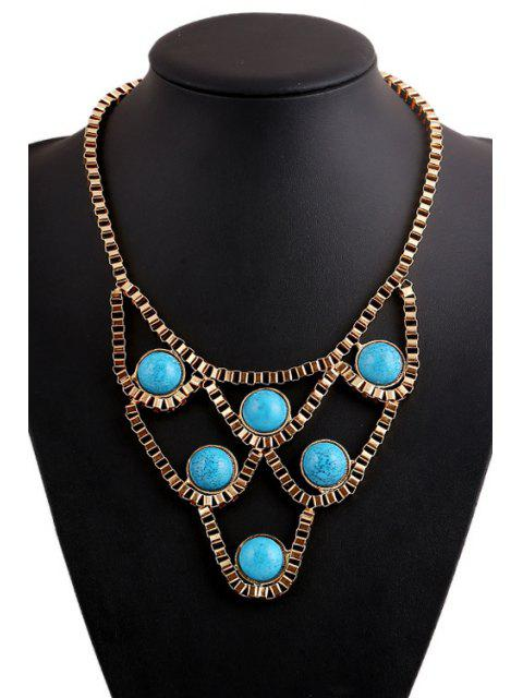 hot Turquoise Hollow Necklace -   Mobile