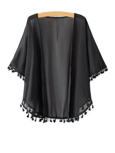 Kimono en demi-manches - Noir Taille Unique(S'adap Mobile