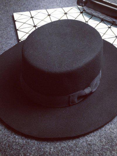 Retro Style Solid Color Sunproof Hat For Women - Black