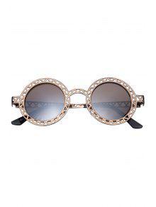 Vider zig zag lunettes de soleil rondes bronz lunettes for Miroir zig zag