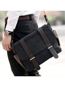 ... Messenger Bag  Stylish Style Splice and Canvas Design Men s Messenger  ... dddbe2a6bb428