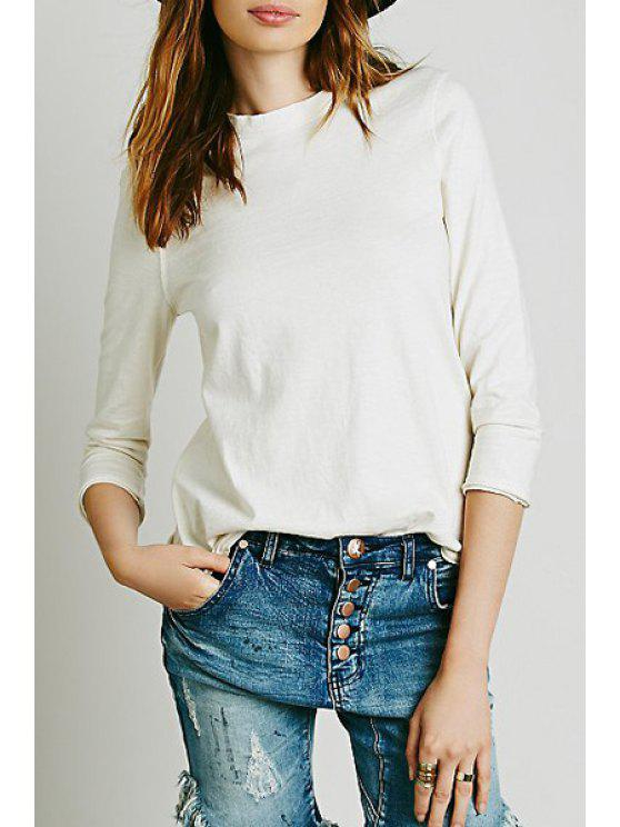 chic Audrey Tee - WHITE S