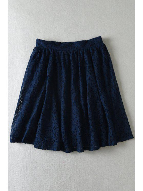 chic Floral Lace Multi-Layered Skirt - CADETBLUE ONE SIZE(FIT SIZE XS TO M)