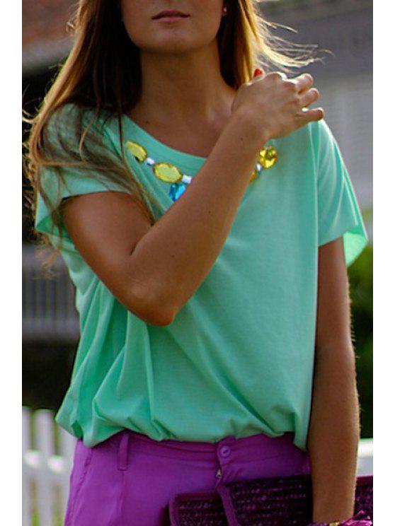 outfits Green Diamante Short Sleeve T-Shirt - GREEN XL