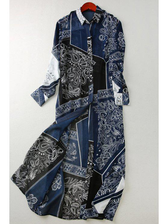 shops Paisley Print Long Sleeve Shirt - COLORMIX S