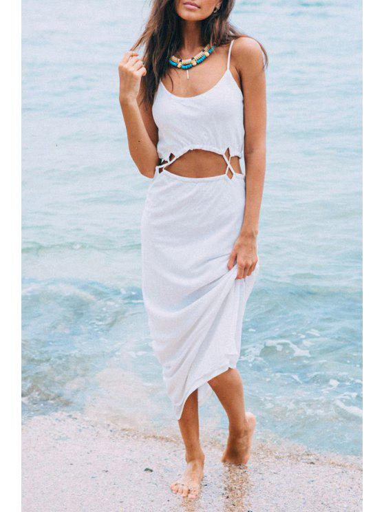 latest White Cut Out Cami Dress - WHITE S