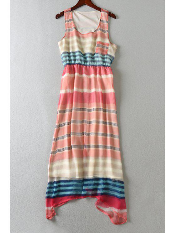 outfits Colorful Striped Scoop Neck Sundress - COLORMIX ONE SIZE(FIT SIZE XS TO M)