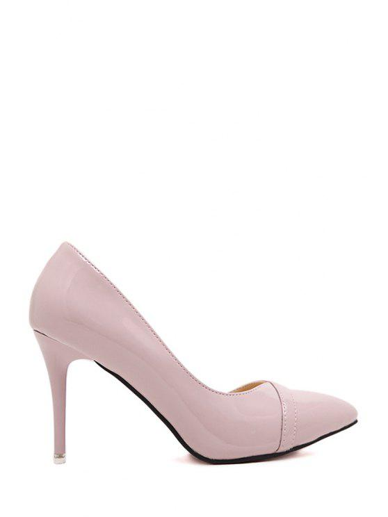 2019 Solid Color Stiletto Heel Pointed Toe Pumps In PINK 37