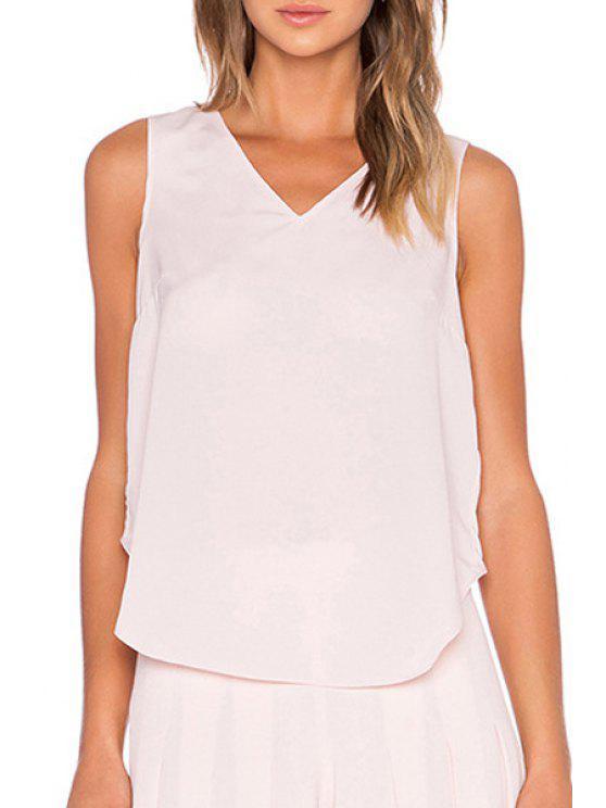 T-shirt manches courtes en croix multicouches - Rose Clair S