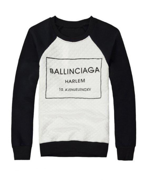 shop Black Letter Print Sweatshirt - BLACK S