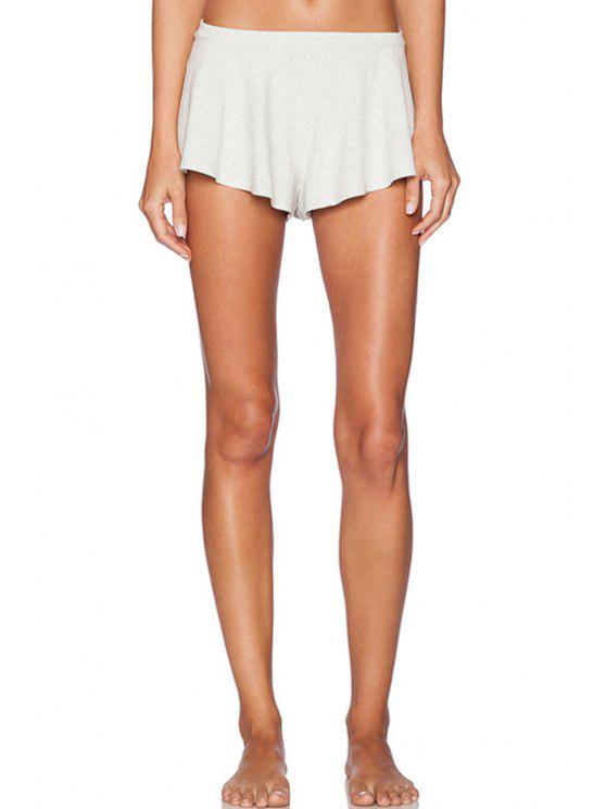 outfits Low-Waisted Straigrt Leg Stretchy Shorts - OFF-WHITE M
