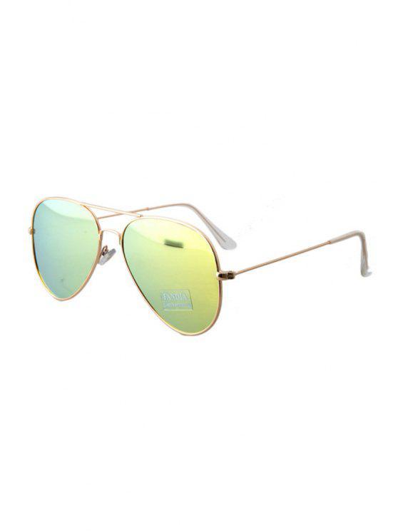 women's Golden Full Frame Sunglasses - YELLOW