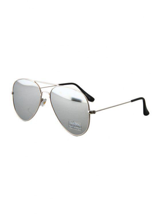 Silver Full Frame Sunglasses - Gris Claro