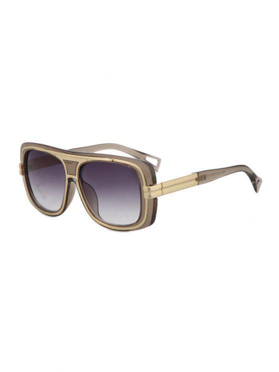 Metal Inlay Transparent Frame Sunglasses DEEP GRAY: Sunglasses | ZAFUL