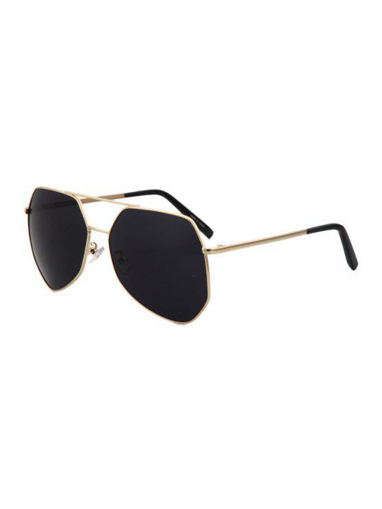 Ouro liga óculos moldura - Preto
