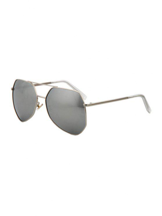 hot Silver Alloy Frame Sunglasses - SILVER