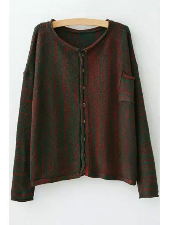 shop Single-Breasted Pocket Design Cardigan - RED ONE SIZE(FIT SIZE XS TO M)