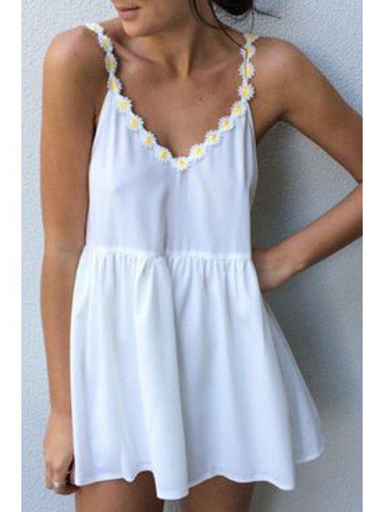 women's White Cami Mini Dress - WHITE S