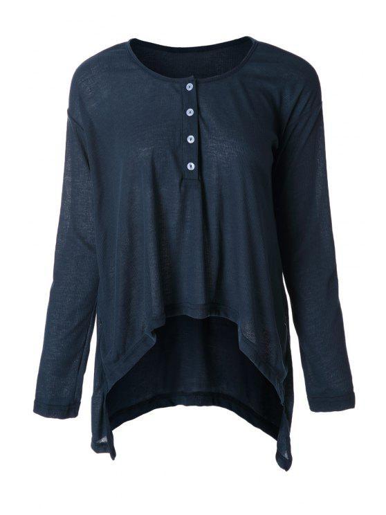 womens Deep Blue Long Sleeve T-Shirt - DEEP BLUE S