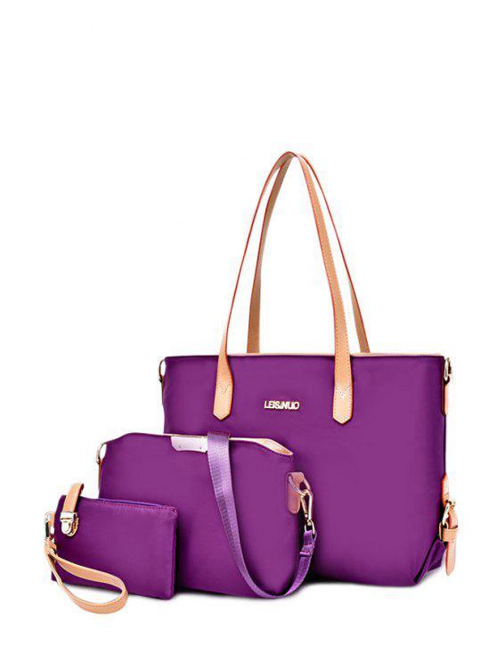 womens Buckle Metal Zipper Shoulder Bag - DEEP PURPLE