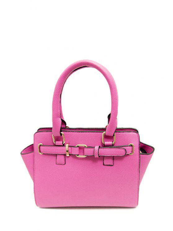 fancy Solid Color Metal Rivets Tote Bag - PINK