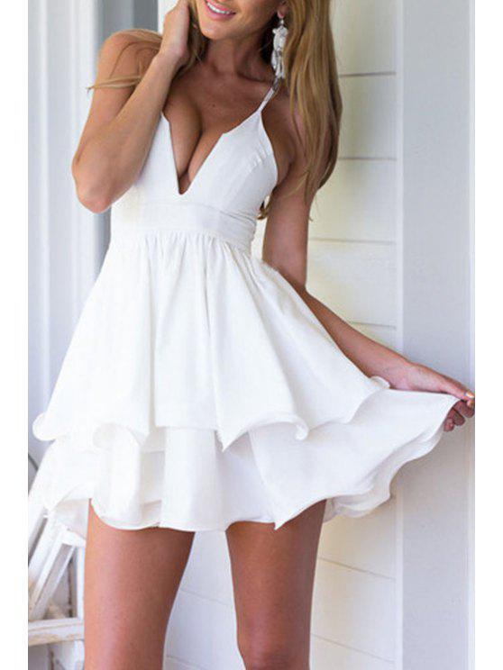 Robe Floyd en couleur solide Cami - Blanc L
